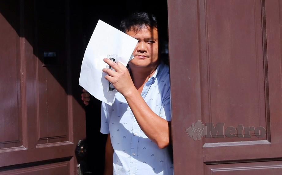 SYARIKAT Telaga Setia Sdn Bhd yang diwakili Pengarah Urusannya, Chia Weng Chuen,50, didenda RM40,000 oleh Mahkamah Sesyen Ipoh selepas mengaku bersalah atas pertuduhan gagal menyediakan prosedur kerja selamat sehingga mengakibatkan kematian pekerja. FOTO Abdullah Yusof