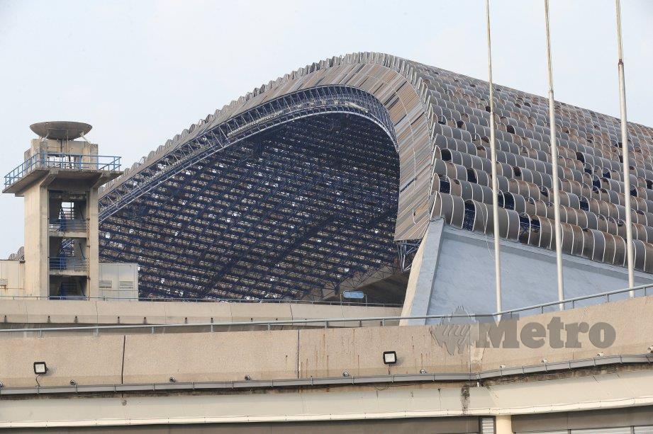 KOS keseluruhan menaik taraf Stadium Shah Alam dijangka mencecah RM250 juta. FOTO NSTP
