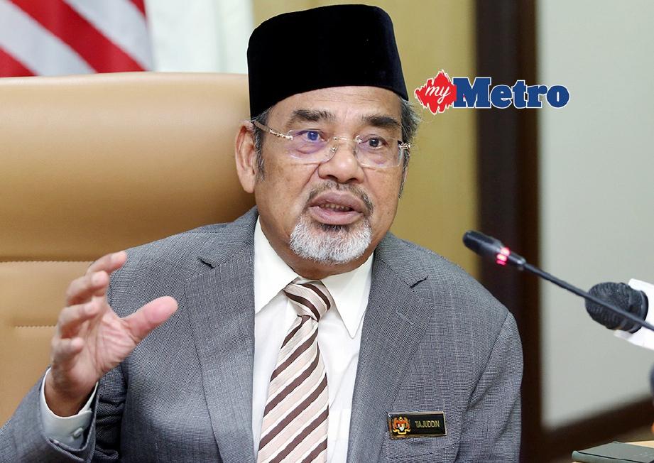 TAJUDDIN gesa UMNO dan PAS bergabung. FOTO/FAIL