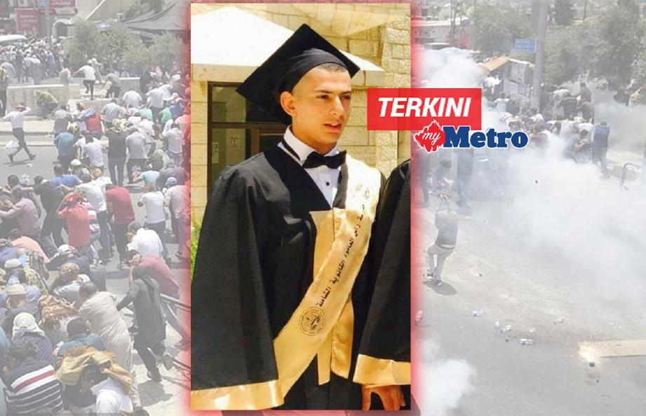 Remaja Palestin, Mohammed Mahmoud Sharaf, 17, yang maut ditembak tentera Israel hari ini. - Foto via Aman Palestin