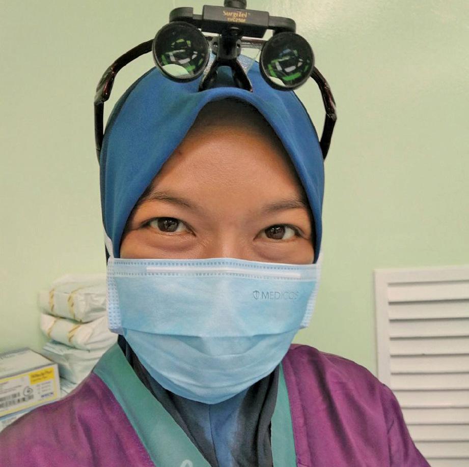 TANGGUNGJAWAB sebagai pakar ortopedik bukan penghalang Dr Noreen Fazlina aktif aktiviti kebajikan. FOTO Ihsan Dr Noreen Fazlina Mat Nor
