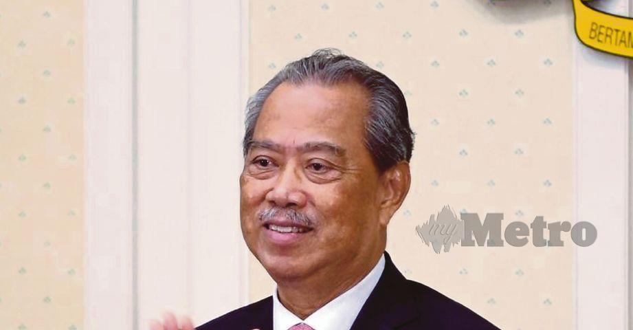 PERDANA Menteri, Tan Sri Muhyiddin Yassin. FOTO ihsan Twitter Muhyiddin Yassin.