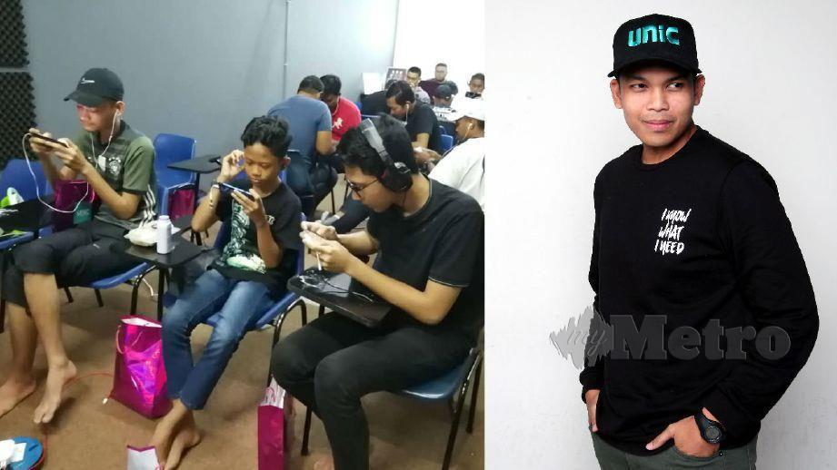 ANTARA peserta yang menyertai pertandingan PUBG anjuran UNIC. (Gambar kanan) Fakhrul. FOTO Arkib NSTP dan Ihsan Fakhrul UNIC