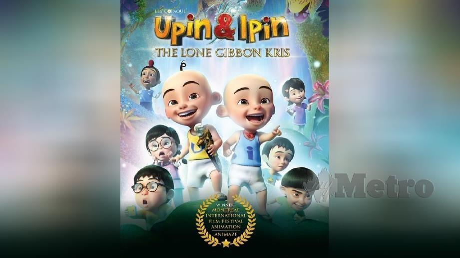 FILEM Upin & Ipin: Keris Siamang Tunggal memenangi anugerah Filem Cetera Terbaik di Festival Filem Animasi Antarabangsa 2019 (ANIMAZE). FOTO Instagram Les' Copaque Production