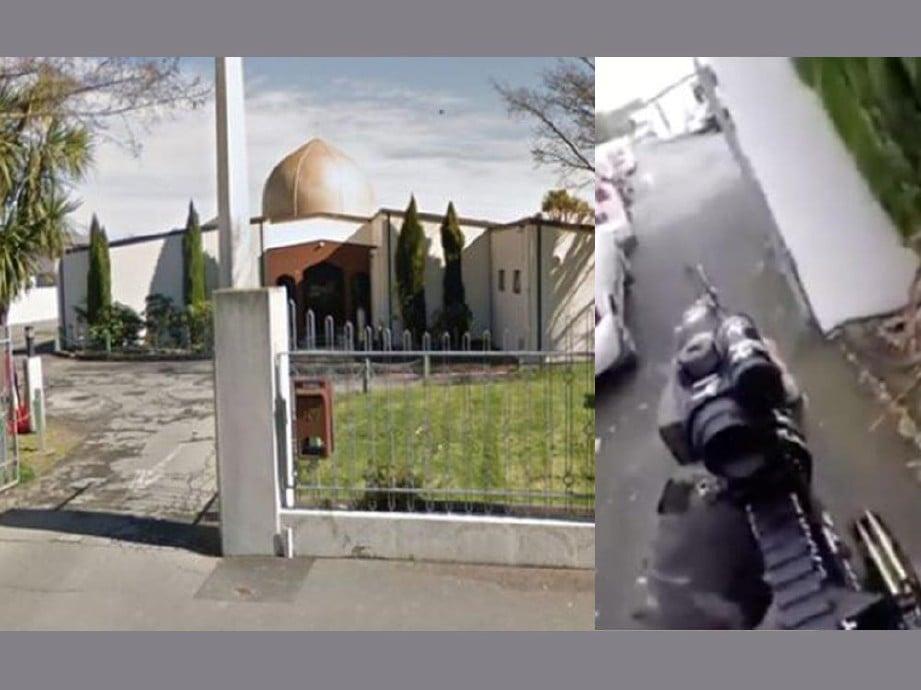 MASJID di Christchurch menjadi sasaran. FOTO/AGENSI