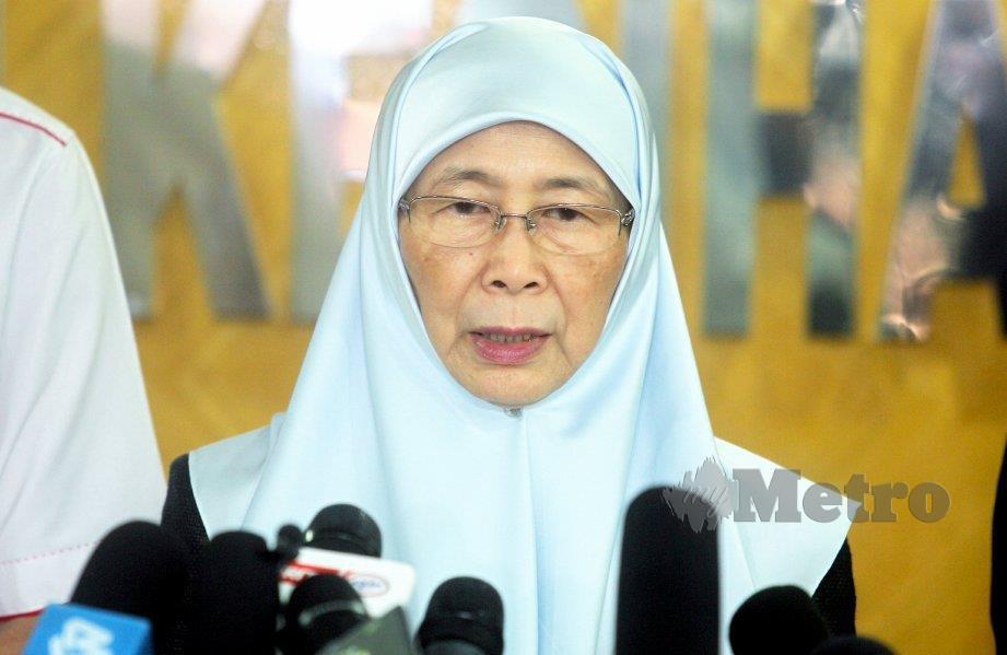 TIMBALAN Perdana Menteri, Datuk Seri Dr Wan Azizah Wan Ismail. FOTO Mohd Fadli Hamzah