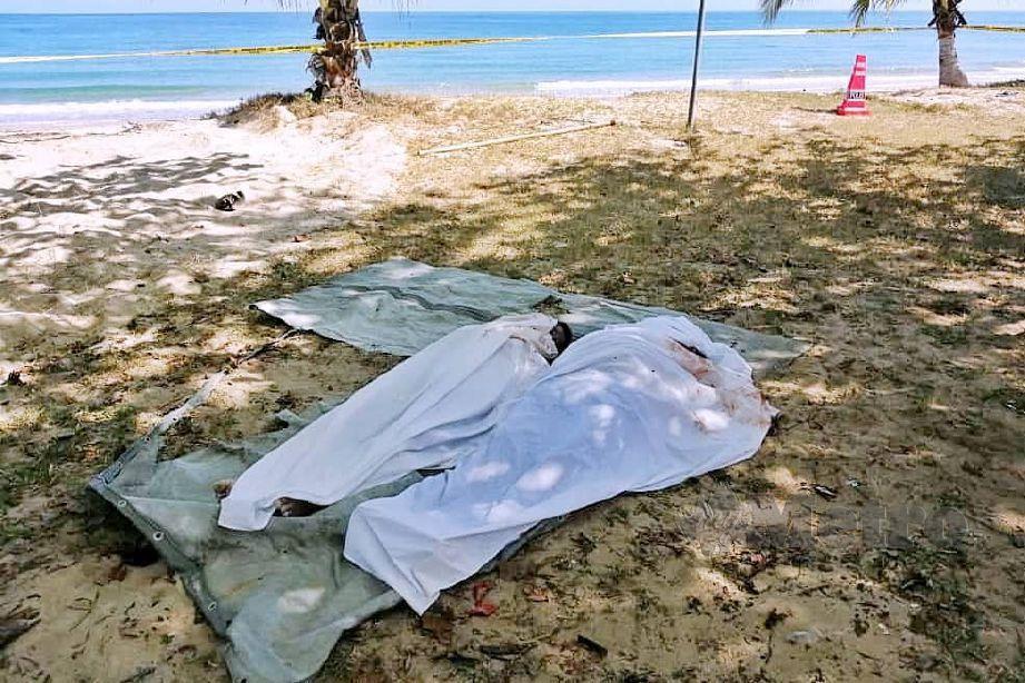 LELAKI bersama cucu dilaporkan hilang ketika keluar memancing ditemui lemas di pesisir pantai Kampung Tempurung, Kuala Penyu. FOTO Ihsan Bomba
