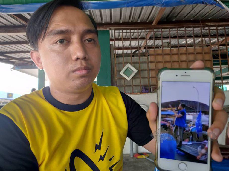 MADYASIR Ahmad Basir, 24, berkongsi video tular ketika berkempen dalam Bahasa Mandarin di Pasar Malam Kukup, Khamis lalu. FOTO NSTP