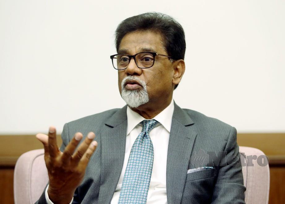 Naib Presiden PKR Datuk Dr Xavier Jayakumar. Foto Danial Saad