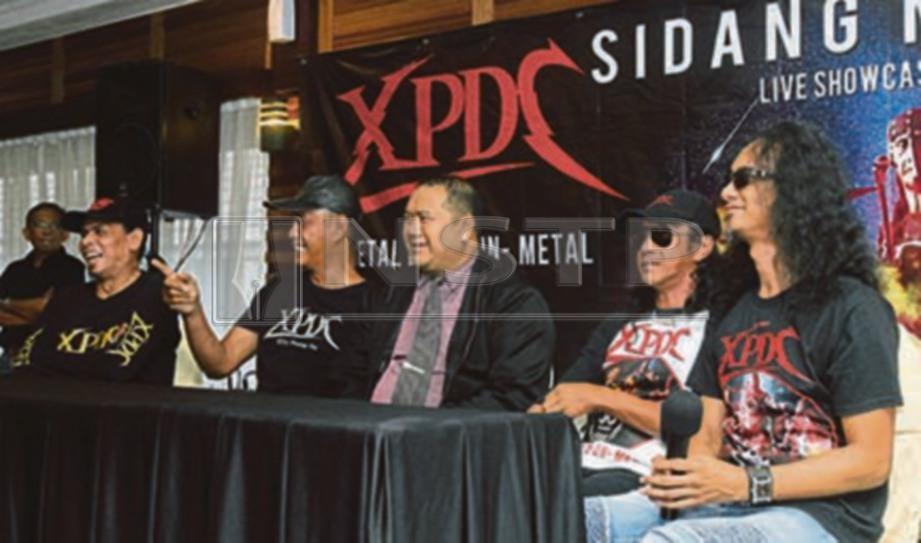 MAJLIS sidang media Konsert XPDC Metal Live & Un Metal. FOTO Amirudin Sahib.