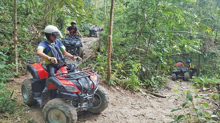 LEBIH santai dengan aktiviti FunRide ATV.