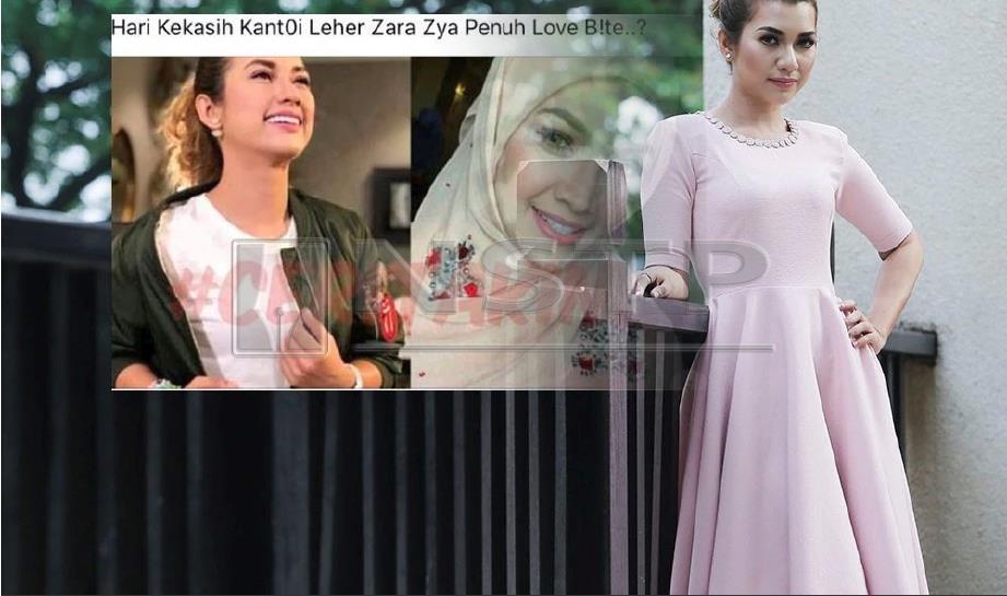 ZARA Zya beri masa tiga hari kepada penulis untuk padam artikel dan mohon maaf. FOTO Arkib NSTP
