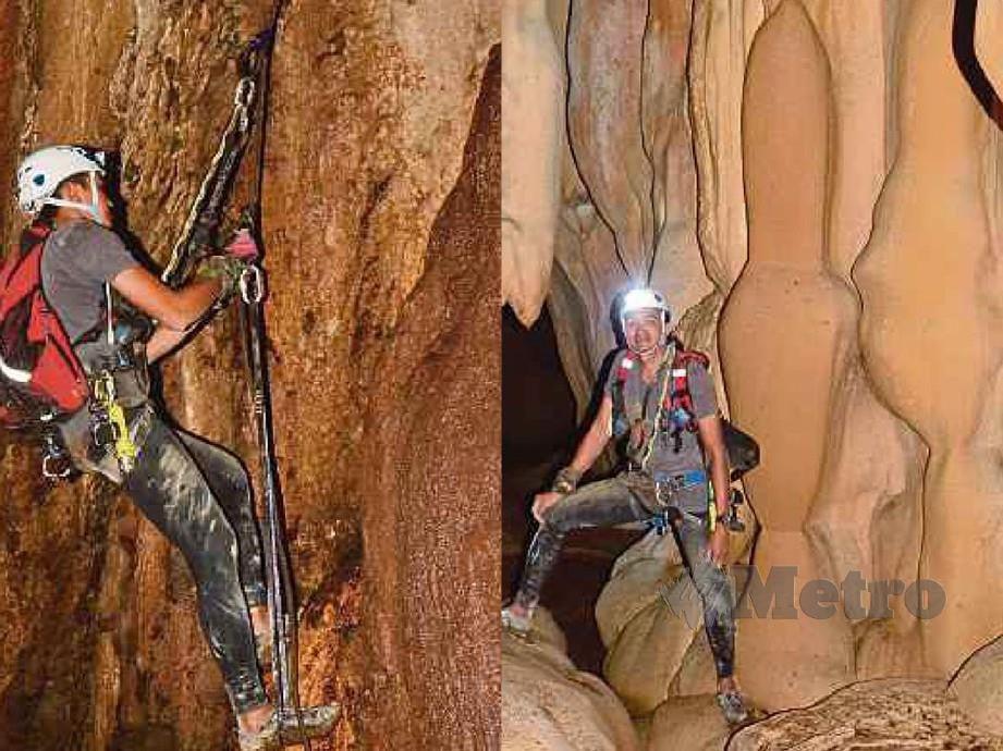 MERAKAM memori di dalam Gua Bewah ketika aktiviti ekskavasi dilakukan menjadikannya sebagai antara individu terawal melihat keunikan gua berkenaan.