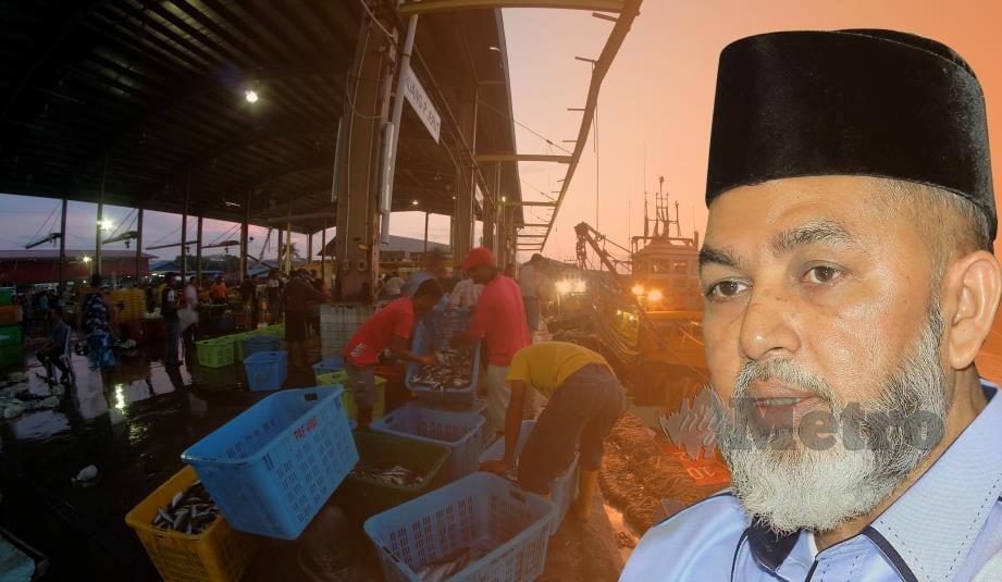 SYED Abu Hussin Hafiz ketika wawancara mengenai industri perikanan.