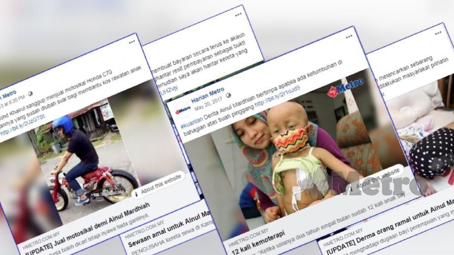 Laporan portal berita Harian Metro sebelum ini