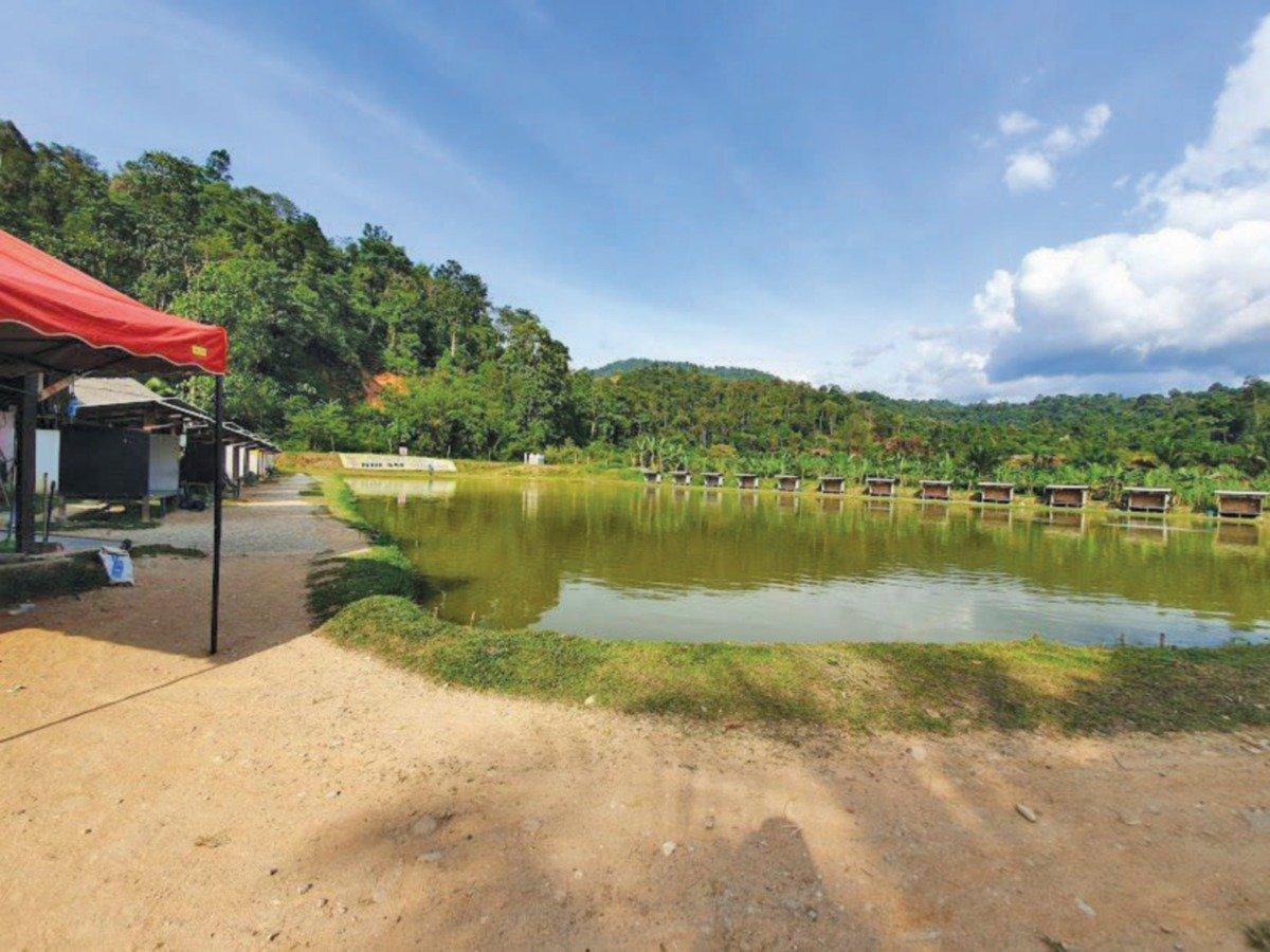 KAWASAN memancing untuk kaki pancing tidak jauh dari pusat perkelahan berkenaan.