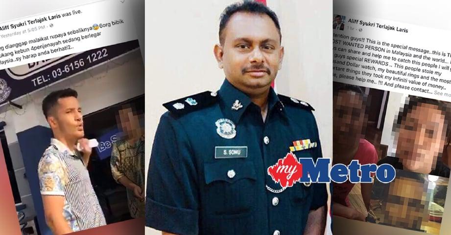 Tiga dah kena cekup, polis buru 3 lagi pembantu rumah dan suspek terlibat curi duit Datuk Aliff Syukri