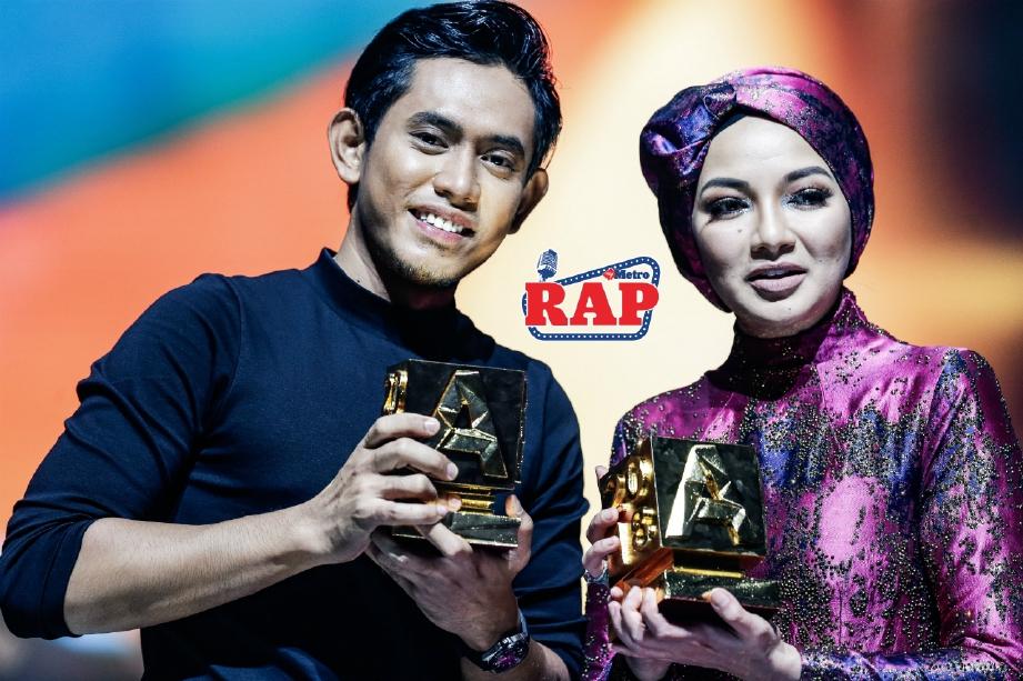 KHAI Bahar dan Neelofa memenangi Top Top Meletop Lelaki dan Wanita pada AME 2018 di Axiata Arena, Bukit Jalil. FOTO Luqman Hakim Zubir