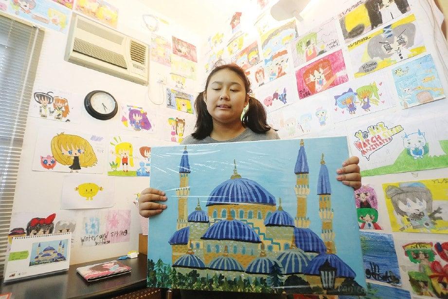 ANTARA lukisan yang dihasilkan Amira Daniea.