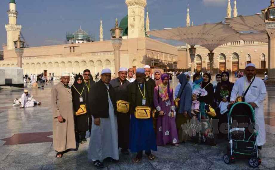 JEMAAH berhimpun sebelum memasuki Muzium Masjid Nabawi.