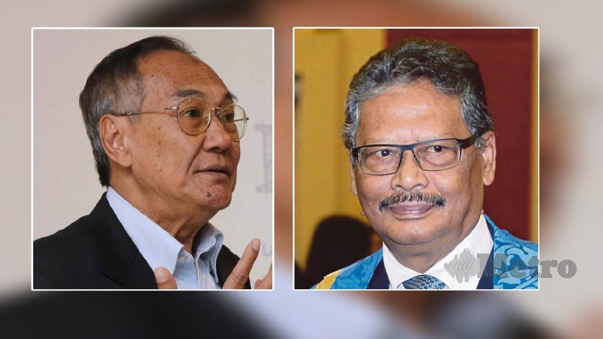BEKAS Ketua Hakim Negara Tun Zaki Azmi (kiri) dan bekas Peguam Negara Tan Sri Mohamed Apandi Ali. FOTO arkib NSTP