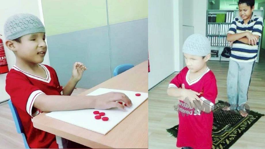 AHMAD Aqeel Faiz yang buta kedua-dua mata dan menghidap autisme menghafaz al-Quran dengan hanya mendengar alunan di radio.