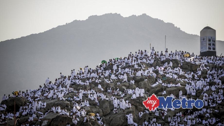 JEMAAH haji berkumpul di Arafah. FOTO EPA