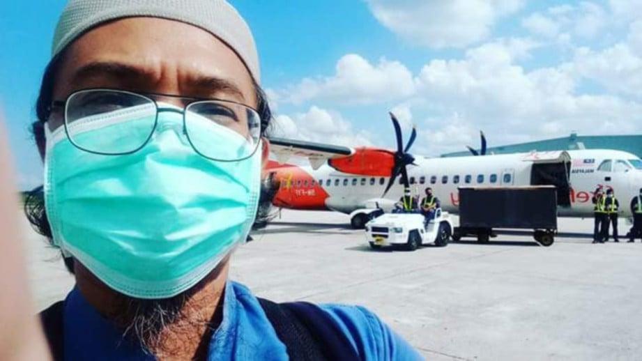 MUNTAHA Abdullah jemaah tabligh yang positif Covid-19,  kemudian dirawat di Hospital Sungai Buloh (HSB) dan sembuh seterusnya boleh pulang ke rumah.