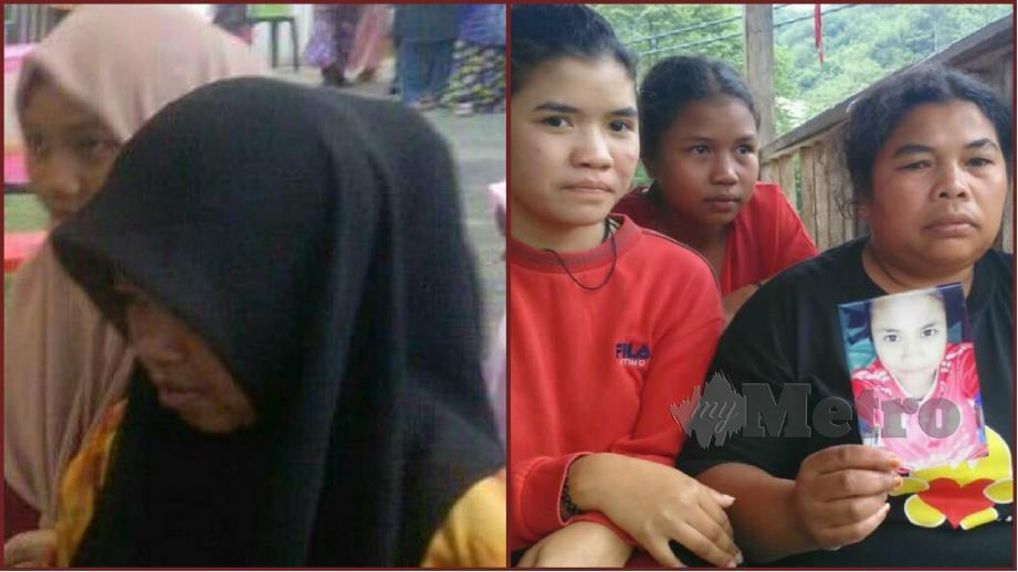 ASMA serik bersuamikan lelaki warga asing dan Leha (kanan) bersama dua anak perempuan menunjukkan gambar anak gadisnya yang pernah dilarikan lelaki warga Indonesia. FOTO Ramli Ibrahim.