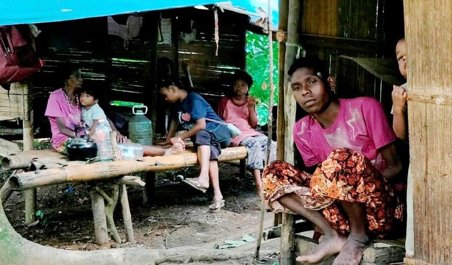 ORANG Asli suku kaum Batek di Kampung Aring 5. FOTO Ramli Ibrahim