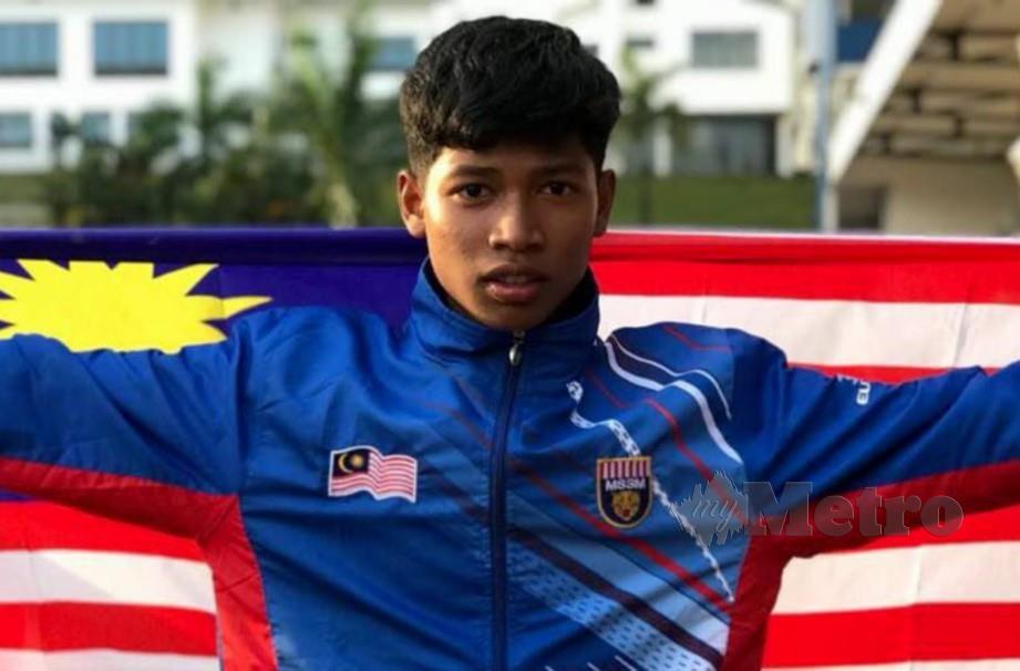 AZEEM catat 10.63s pada Kejohanan MSSM di Iskandar Puteri. — FOTO Fail