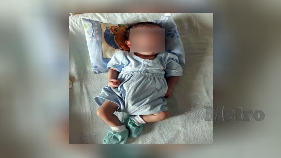 Bayi perempuan yang ditinggalkan ibunya selepas dilahirkan di Hospital Sultanah Aminah (HSA). FOTO Ihsan JKM