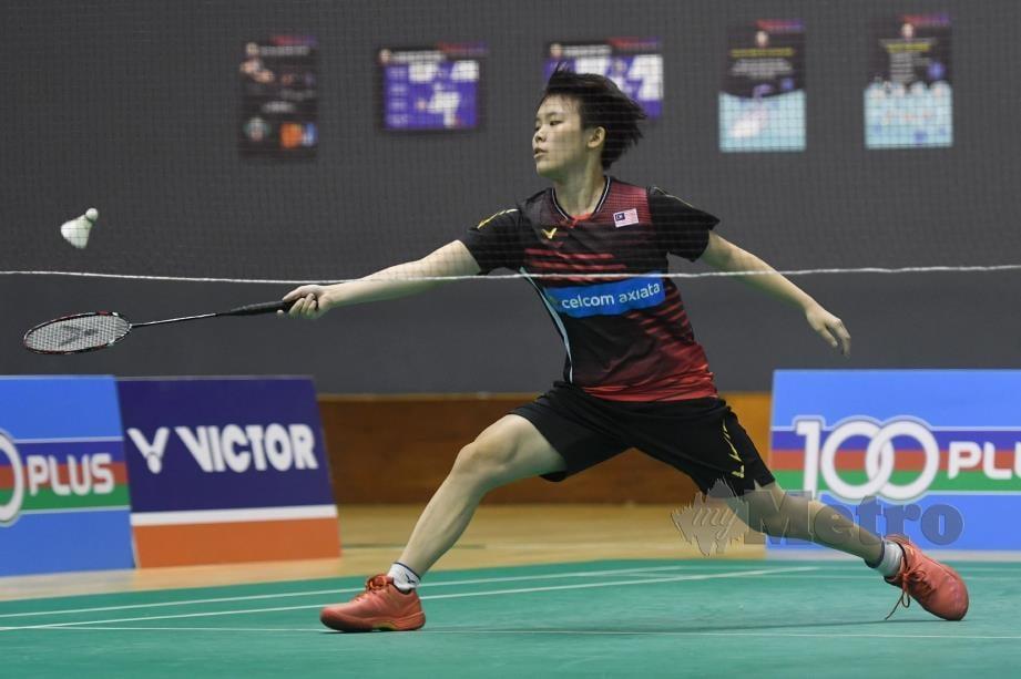 Jin Wei tidak berdepan masalah atasi Eoon Qi Xuan 21-12, 21-9. FOTO BAM
