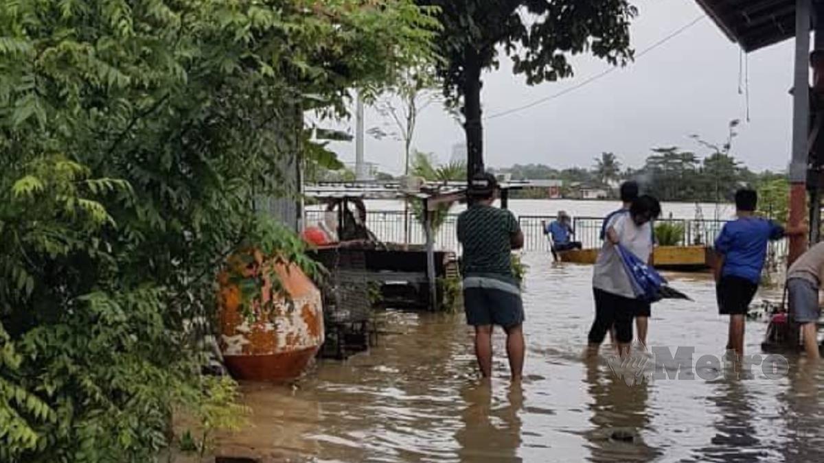 ANTARA kawasan yang terjejas banjir hari ini. FOTO Melvin Joni
