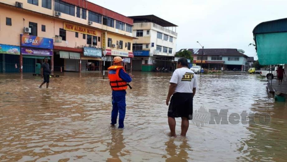ANTARA kawasan dilandar banjir di Rompin. FOTO Ihsan Bomba dan APM.