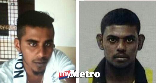 M Vishwanath (kiri) dan R Dinishwaran (kanan). - Foto Polis Diraja Malaysia