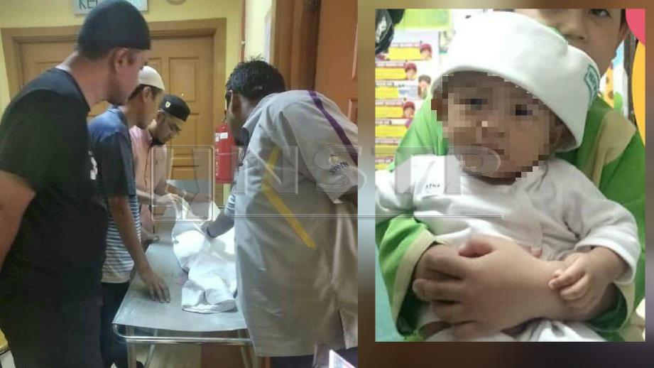 AHLI keluarga mangsa menunggu proses bedah siasat di Jabatan Forensik HKL. (Gambar kanan) Mangsa. FOTO Norizuan Shamsudin