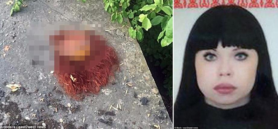 Wanita berusia 35 tahun dipercayai mangsa terbaru Dimitry dan isterinya yang anggota tubuhnya ditemui di tepi jalan di Krasnodar pada 12 September lalu. - Foto Daily Mail