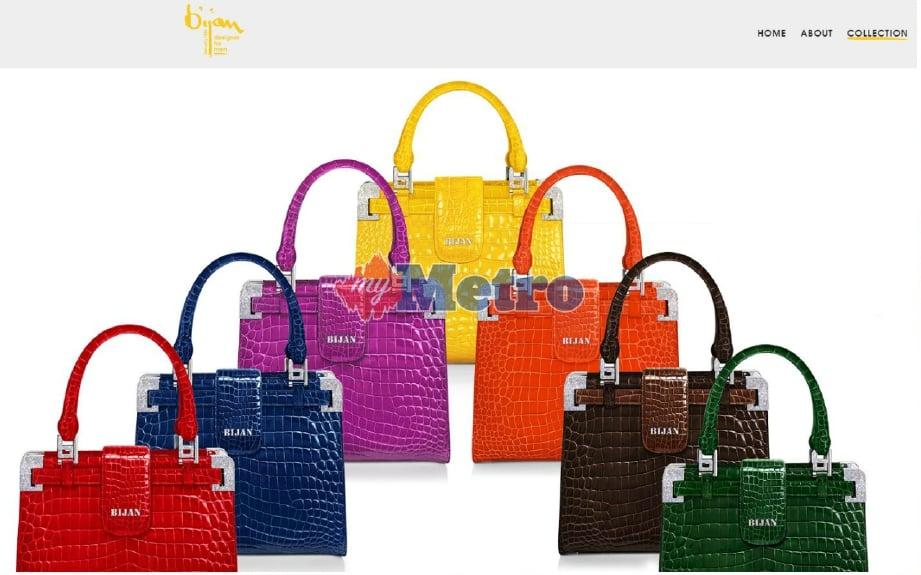 36a4f10b5b27 Koleksi beg tangan Bijan yang boleh didapati di laman sesawang  www.bijan.com.