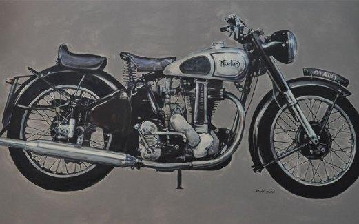 LUKISAN Norton mengimbau kenangan penonton dan peminat motosikal.