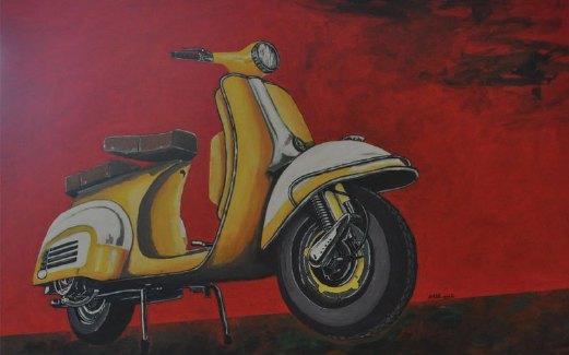 HASIL seni Ahmad Marzuki bertajuk 'Siputih Kuning'.