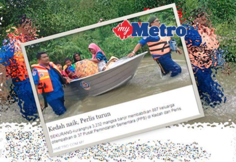 Laporan mengenai banjir di Kedah dan Perlis semalam.