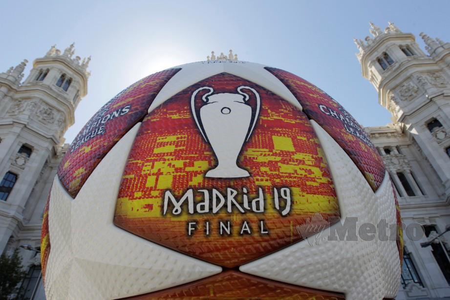 MADRID sudah tidak sabar menanti detik gemilang final antara Tottenham dan Liverpool. — FOTO EPA