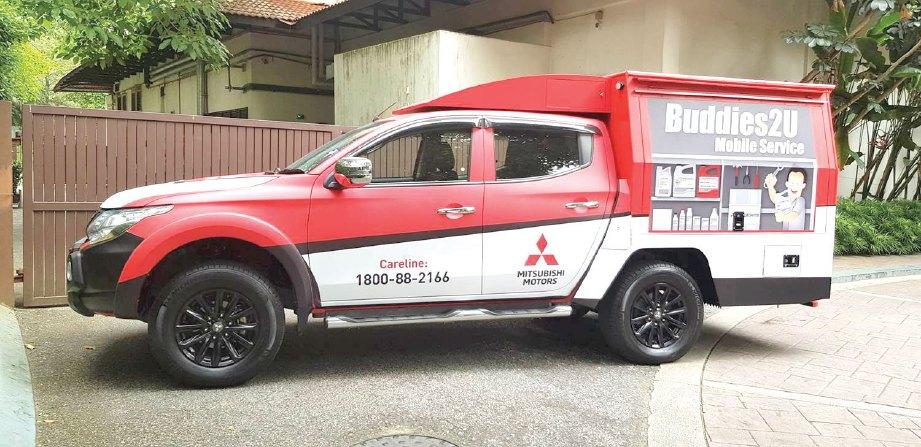 UNIT bengkel bergerak Mitsubishi pertama di Sarawak.