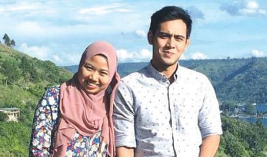 HAFIDZ bersama isteri, Nurul Shuhada.