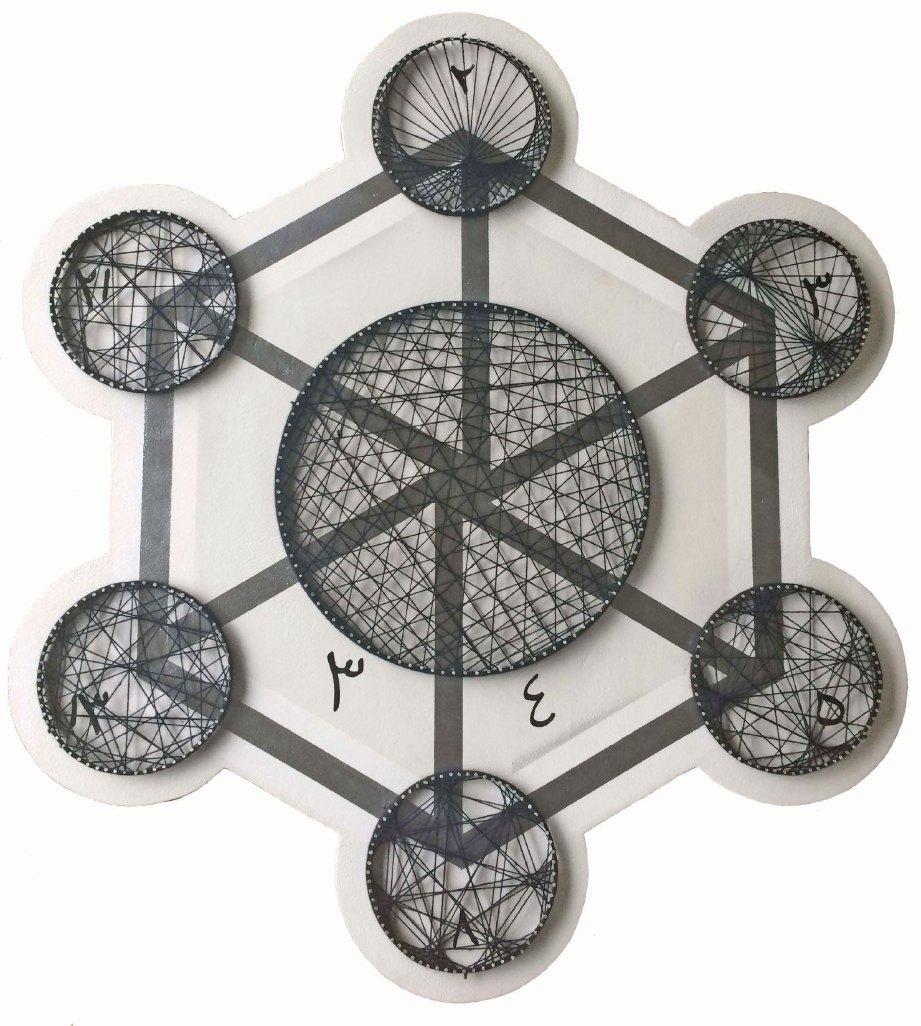 KARYA yang ditampilkan dalam pameran solo pertama ini diinspirasi daripada bentuk geometri.