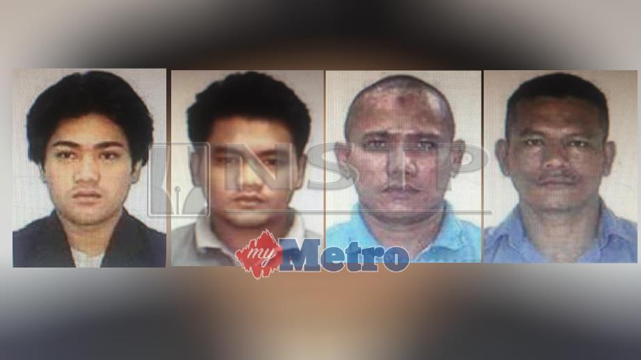 SAKSI kes bunuh (dari kiri) Kamarul Zaimmi, Mohd Ferdaus, Mohamad Fazli dan Ramli diminta hadir ke Mahkamah Tinggi Shah Alam pada 29 Januari ini. FOTO Ihsan PDRM