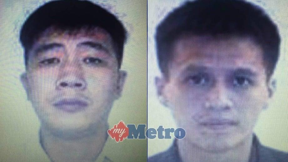 KAH Tze (kiri) dan Hean Leong diminta tampil di Mahkamah Tinggi Shah Alam, Selangor.