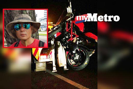 (4 Gambar)…Seorang Jurukamera TV3 MAUT Dalam KEMALANGAN Apabila Motosikalnya TERBABAS Di LPT !!!