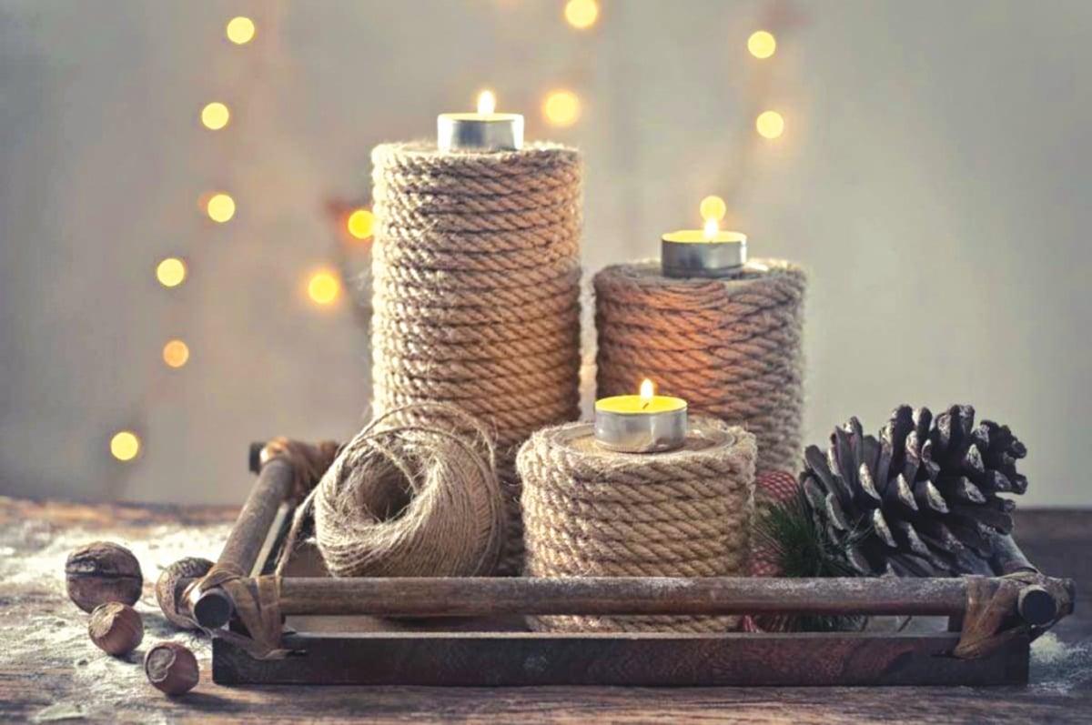 LILIN dalam belas besi dengan tali jut sesuai untuk konsep industrial. - FOTO Google